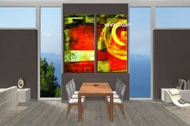 Dining Room Photo Canvas 2 Piece Wall Art Abstract
