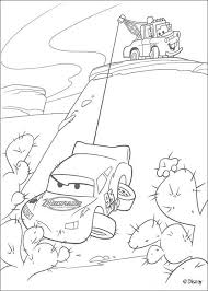 Mater Saves Lightning McQueen Coloring Page