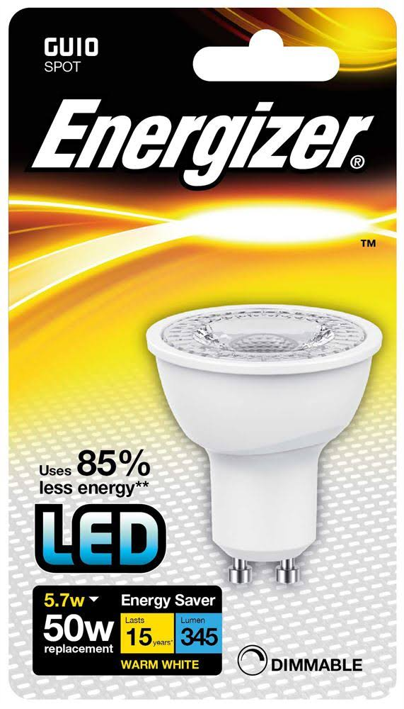 Energizer GU10 Warm White Blister Pack 5.5W Dimmable LED Lamps S8691