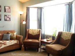 Living Room Curtain Ideas For Bay Windows by Fancy Curtains For Bay Windows In Living Room Living Room Bay