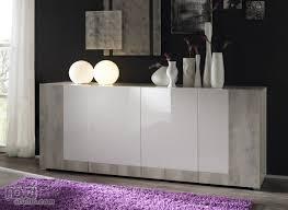Furniture Modern Walnut Sideboard Cabinet Buffet Black Glass With
