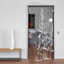 glastür gelasert mit motiv gras das design der glastür mit