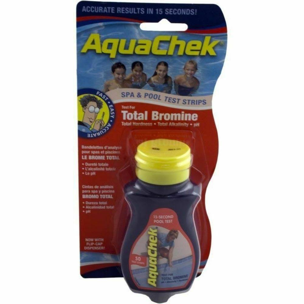 Aqua Chek Swimming Pools Total Bromine Test Strips - 50ct