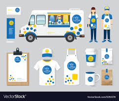 100 The Car And Truck Shop Restaurant Cafe Design Set Street Food Truck Shop Vector Image