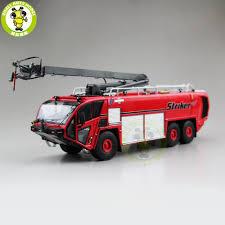 100 Airport Fire Truck 150 OSHKOSH Striker Truck Diecast Model Car Toys