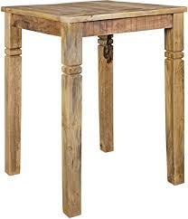 finebuy bartisch rusti 80 x 110 x 80 cm massiv holz natur esstisch quadratisch rustikaler hoher tisch altholz shabby chic echtholz küchenbartisch