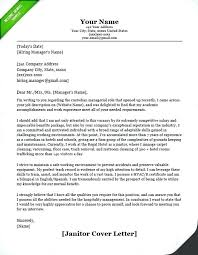 Janitorial Resume Sample Janitor Maintenance Cover Letter Example