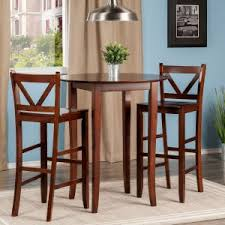 Winsome Trading Fiona 3 Piece Counter Height Round Dining Table Set