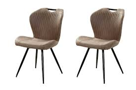 2er set stühle in stoff vintage braun