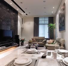 Modern Interior Design By Yu Ken Dressy Living Room Near Dining With Black Granite