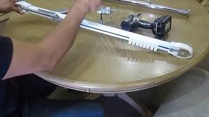 Traverse Curtain Rods Restringing by Somfy Traversing Center Open To One Way Youtube