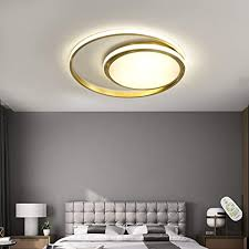 led deckenleuchte wohnzimmer le 2 ring dimmbar leuchte mit fernbedienung kupfer deckenle modern decken schlafzimmer licht esszimmerle