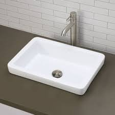 Trough Sink With Two Faucets by Bathroom Double Trough Sink Wayfair