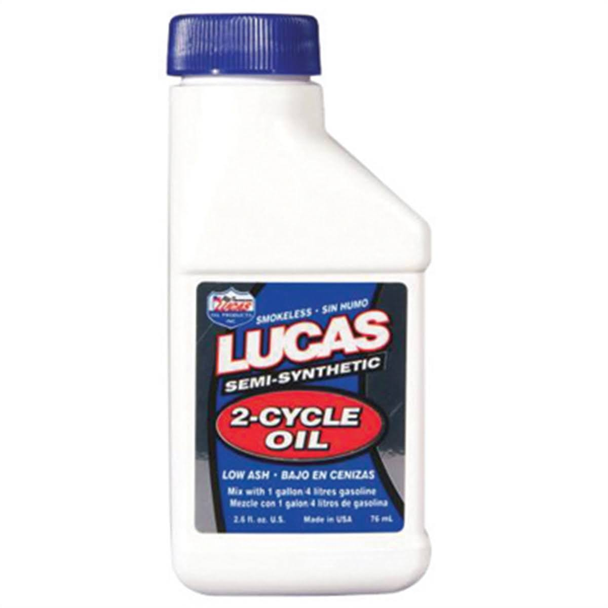 Lucas Oil 10058 Semi-Synthetic 2 Cycle Oil - 2.6oz