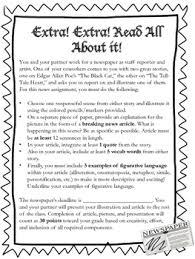 Edgar Allan Poe Breaking News Article And Illustration Activity
