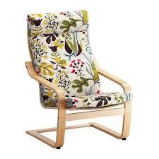 ikea poang chair birch veneer with blomstermala floral pattern