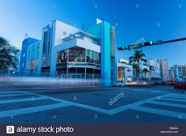 100 Miami Modern USA Florida Building On Street Corner Stock