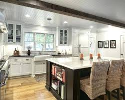 Kitchen Island With Shelves Inspiration For A Timeless L Shaped Remodel In Farmhouse