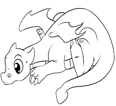 Printable Dragon Coloring Pages Also Baby For Adults