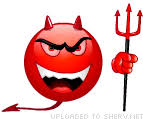 Laughing Out Loud Devil Emoticon