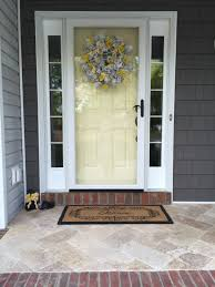 travertine tile on our new front porch so much nicer than