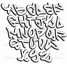 Cool bubble letters equipped portrayal graffiti font hip hop fonts