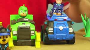 PJ MASKS TRANSFORMERS RESCUE BOTS TOYS - PJ Masks PAW Patrol Mission ...