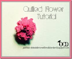 Fabric Rosettes Tutorial Quilled Paper Flower