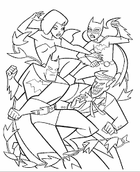 Coloring Pages Printable Batman Fighting