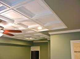coffered drop ceilings white