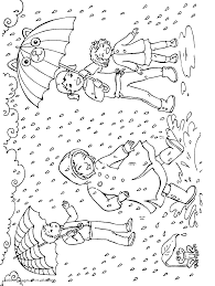 Rain Coloring Pages New