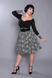 laura byrnes little jun skirt in spider web print retro style