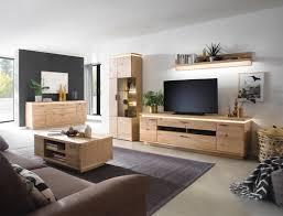 wohnzimmer burgos 42 balkeneiche bianco teilmassiv 5 teilig tv wand led expendio