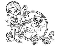 Cute Animals Coloring Pages Littlest Pet Shop Free Print Animal Books Sheets Zoe To Large