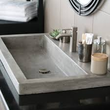 Undermount Double Faucet Trough Sink by Bathroom Sink Long Bathroom Sink With Two Faucets Vanity Bowl