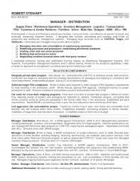 Bunch Ideas Of Distribution Resume Manager Best Warehouse Supervisor Sample