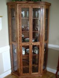 built in corner china cabinet for the home corner