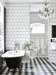 black and white bathroom in a stunning industrial style home in