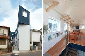 100 Narrow House Designs Modern Tokyo Home Rises On Narrow Site Curbed