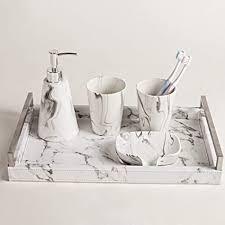 mei xu marmor muster waschset badezimmer 5 teiliges set mit