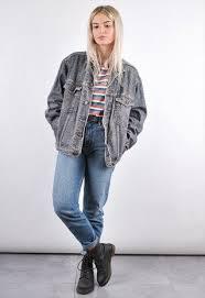 90S GREY WRANGLER VINTAGE OVERSIZED DENIM JACKET Vintage OutfitsVintage ClothingGrunge