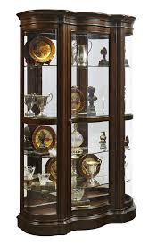 harley curved end curio cabinet in cherry by pulaski home