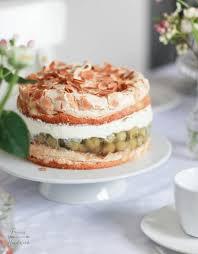 feines handwerk stachelbeer baiser torte