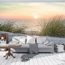 details zu vlies fototapete tapete strand sand sonne meer wasser wohnzimmer nordsee 921