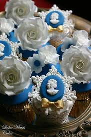 Blue And Gold Cupcakes