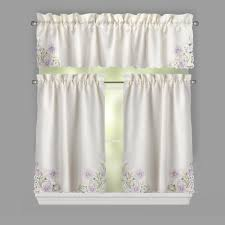 Window Art Tier Curtains And Valances by Purple Flower Cutwork Window Tier U0026 Valance Set Christmas Tree