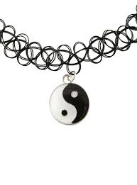 Smashing Pumpkins Bodies Meaning by Yin Yang Charm Tattoo Choker Topic
