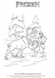 Sven And Kristoff Frozen Coloring Games