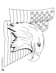 Bald Eagle Coloring Pages Printable American Color Page Head Flag Source Full Size