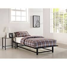 parsons twin metal ledge platform bed black walmart com